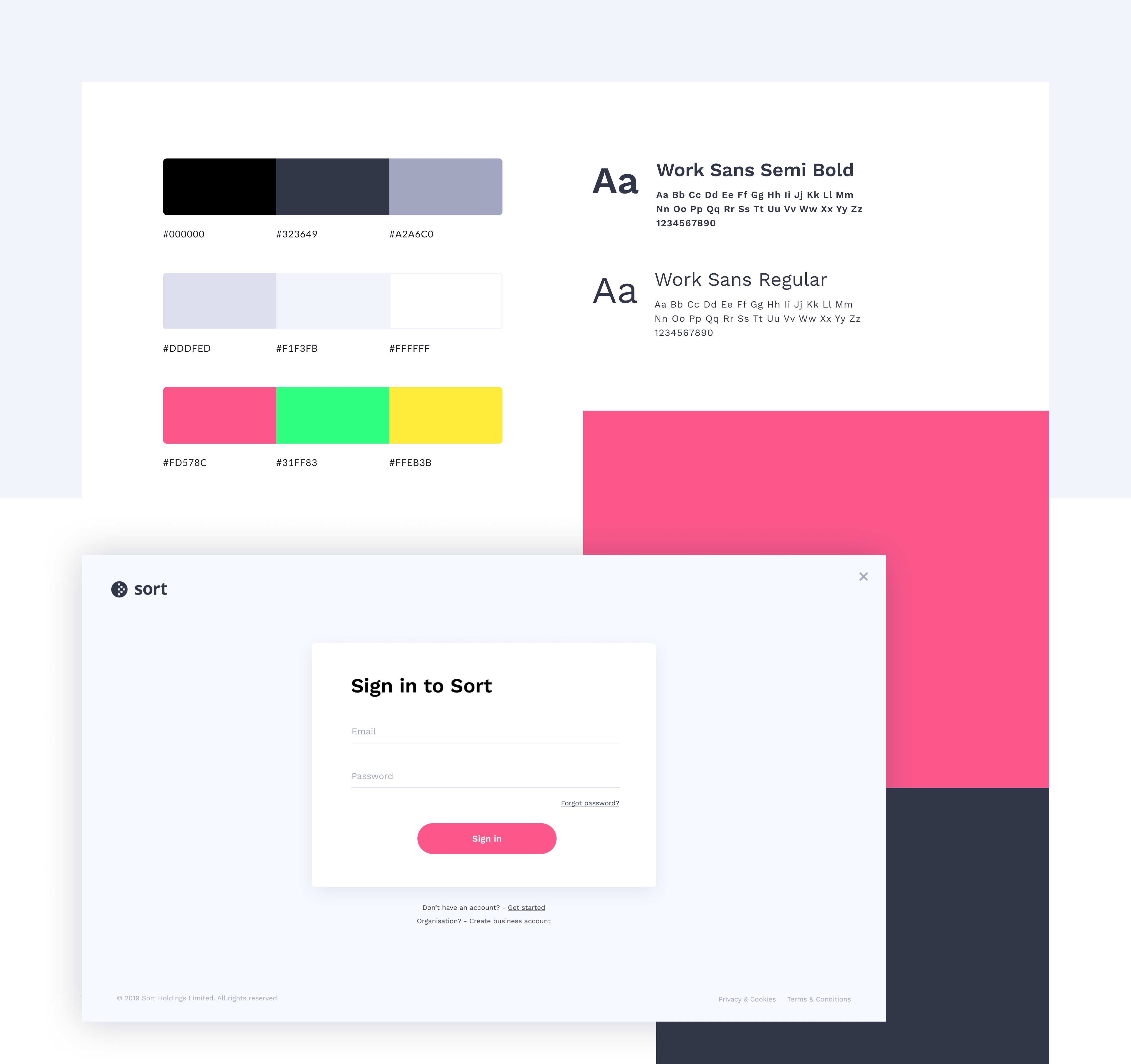 Sort color scheme