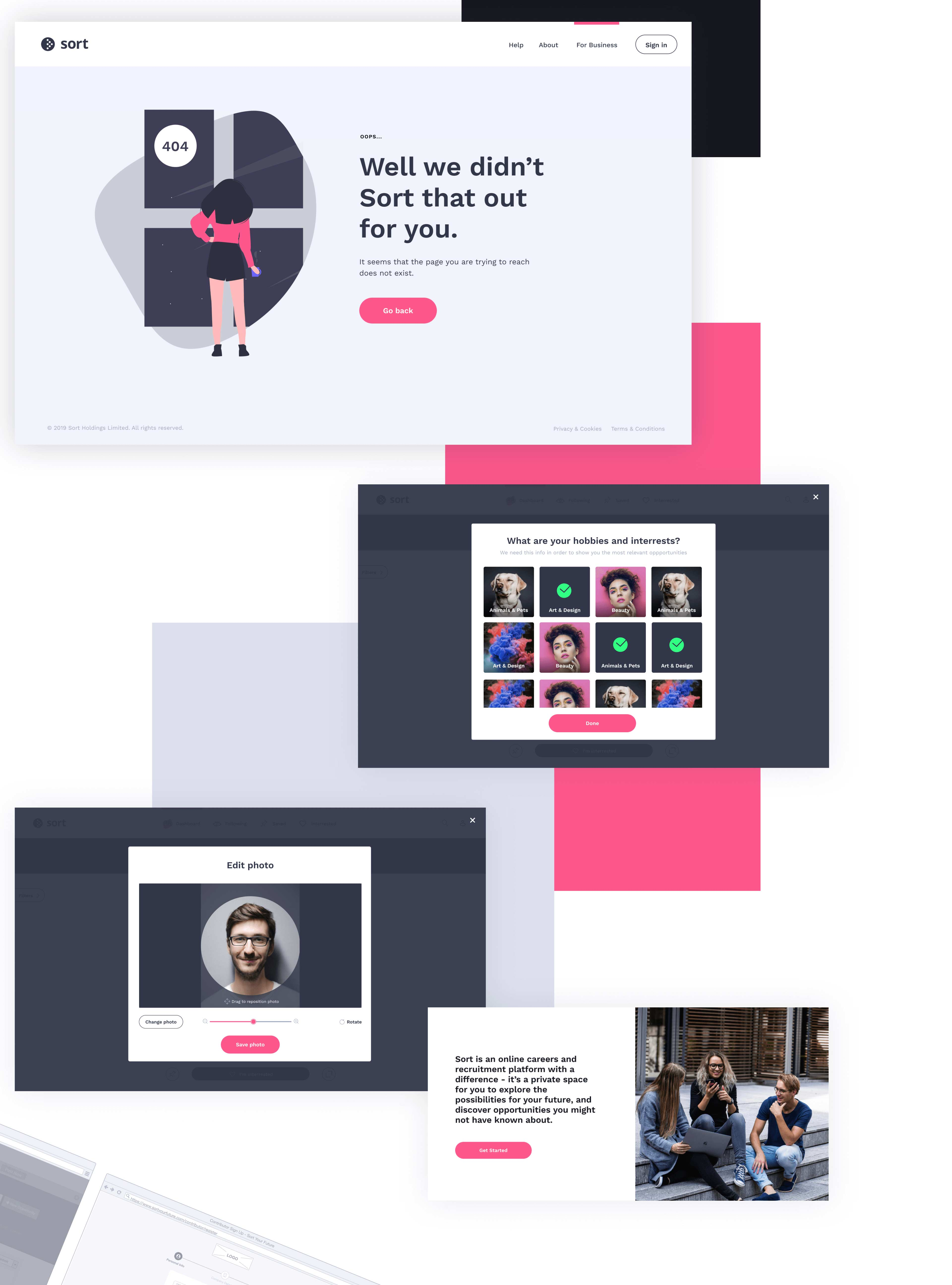 design other pages